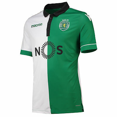Official Sporting Lisbon Football Third Shirt Jersey Tee Top 2018 19 Mens Macron