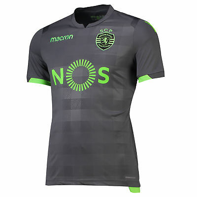 Official Sporting Lisbon Football Away Shirt Jersey Tee Top 2018 19 Mens Macron