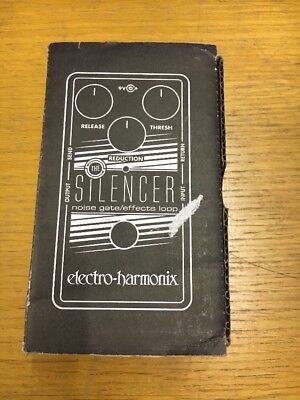 Electro Harmonix Silencer Noise Gate Effects Loop Pedal - not tested