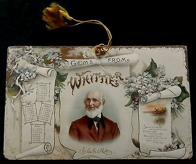 Turn-of-the-Century JOHN WHITTIER Calendar PRINTED IN GERMANY Must See