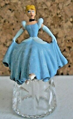 Disney Princess Cinderella Sterling Classic Glass Thimble With Base & Dome Cover