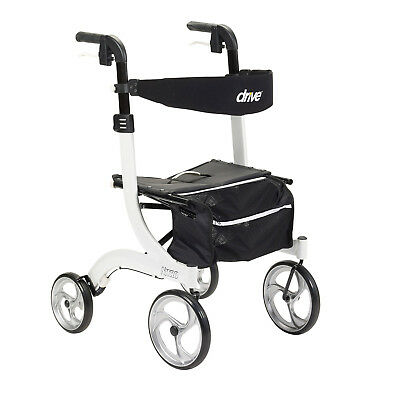 Drive Medical RTL10266WT Nitro Adjustable Euro Style Rollator Walker, White