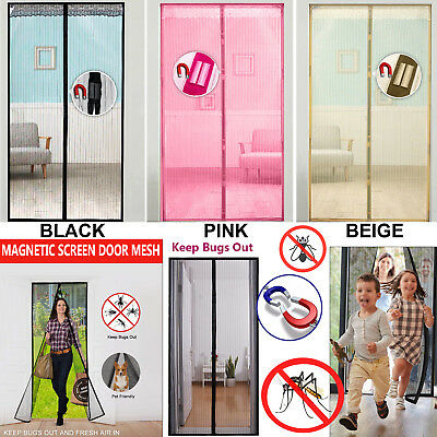 Magic Door Mesh Magnetic Curtain Fastening Hands Free Fly Bug Insect Screen Mesh