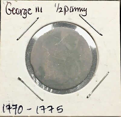 Great Britain 🇬🇧 Half Penny 1770-1775 George III