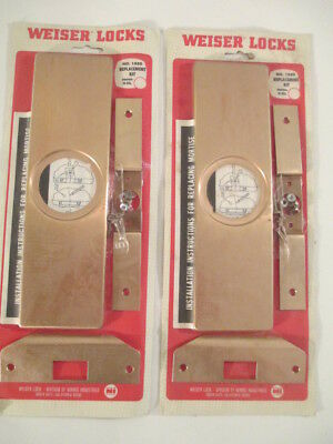 2 - Weiser Lock Replacemant Kits # 1880 Satin Bronze  NOS