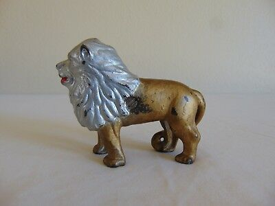 Vintage Cast Iron Lion Bank Free Shipping