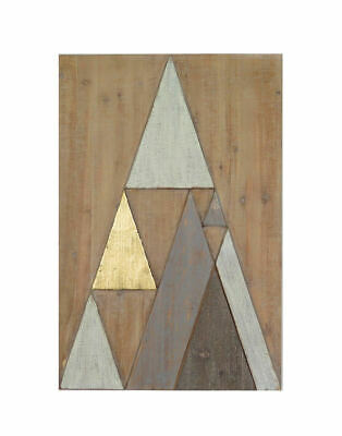 Wall Art TRIANGLE MOUNTAIN 40x60cm Panel Pinewood Geometric Minimalistic