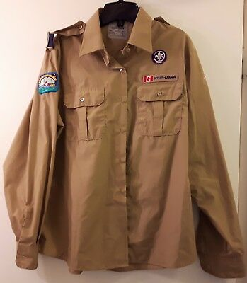 Boy Scouts Canada Shirt with Badges Size Ladies XL