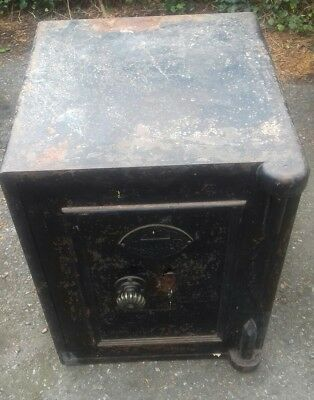 vintage Chubb safe, with original key and brass fittings