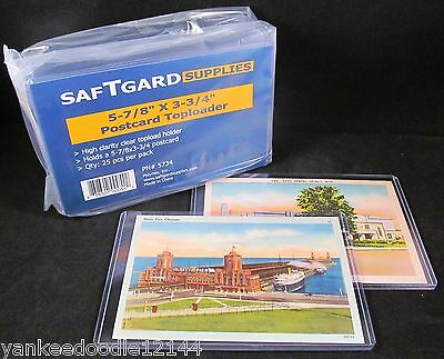 100 STG 5.875 x 3.75 Rigid Hard Plastic Postcard Topload Holders protector sheet