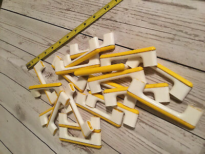 Lot Retro Vintage Plastic Yellow White Door Drawer Pulls Cabinet Handles