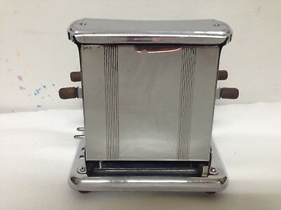 Antique Toaster Electric Aluminum Metal Universal Dual Side NO CORD USA Made