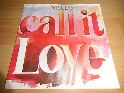 Yello - Call It Love *SEHR GUT* TOP ROCK/POP/WAVE 7""