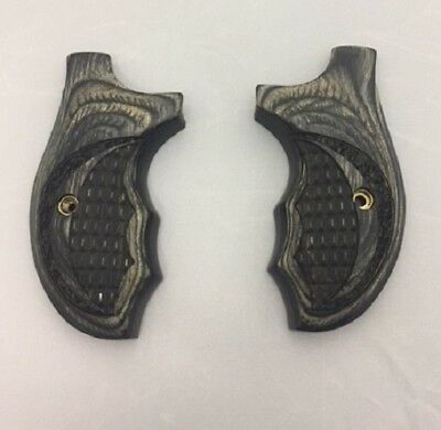 SMITH & WESSON Grips Round Butt J Frame Rosewood S&w Factory ...