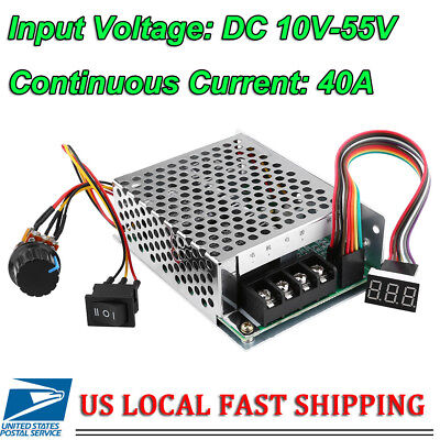 DC10-55V 12V 24V 36V 60A PWM Motor Speed Controller CW CCW Reversible Switch Kit