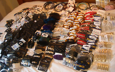 Wholesale Job Lot Hair Accessories - Ladies & Kids Approx  300 Items - New  (A)