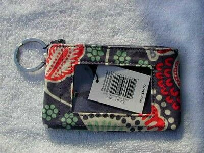 VERA BRADLEY ZIP ID MONEY, or CREDIT CARD CASE PURSE in NOMADIC FLORAL MINT+TAG