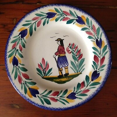 "Lovely Quimper Plate - 7.1/4"" dia"