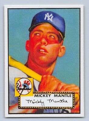 1952 Mickey Mantle Topps Rookie Reprint Baseball Card 311
