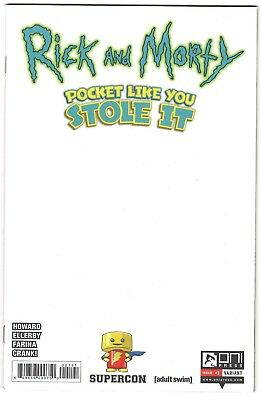 Rick and Morty: Pocket Like You Stole It #1 NM- (2018 Oni Press) Supercon Blank