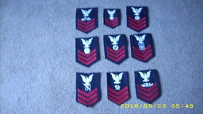 Genuine US NAVY RATE, assorted Navy sleeve insignia, rate USN lot of 9