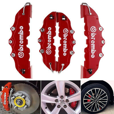 4X3D Red Brembo Style Race Brake Caliper Cover Disc Red Car Front & Rear TOYOTA
