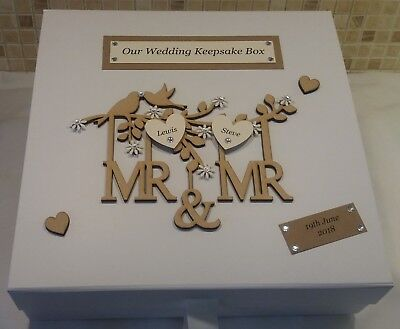 Wedding Keepsake Memory Box Personalised Engagement Gift Extra Large