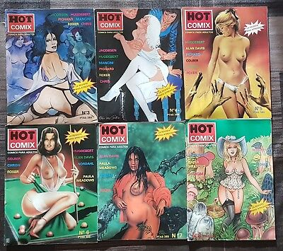 HOT COMIX. Lote de 6 comics (3-4-5-6-7-8). Carton Comics 1994
