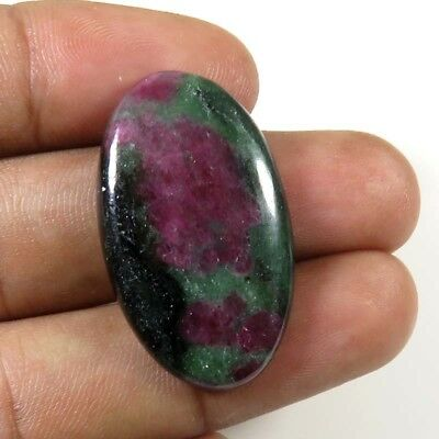RUBY ZOISITE CABOCHON OVAL NICE~ NATURAL LOOSE GEMSTONE 29.75Cts. 31x18mm. RZ-58
