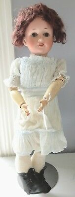 """Antique German Max Oscar Arnold 20"""" Welsh Bisque Head Composition Body Doll"""