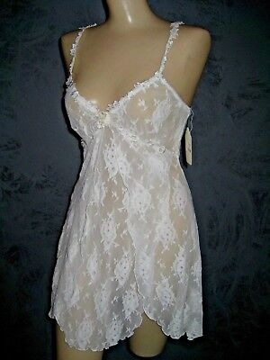 Claire Pettibone Luxury Lingerie Bridal Ivory All Lace Karin Babydoll S NWT $110