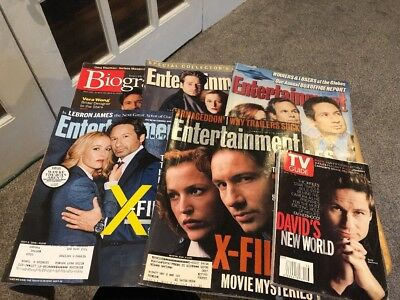 Lot Of 6 Vintage Magazines X-Files, Biography, TV Guide, Entertainment Weekly