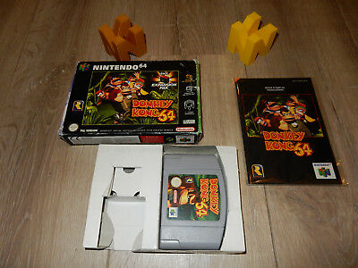 PAL N64: Rare Donkey Kong 64 Boxed with Manual Nintendo 64