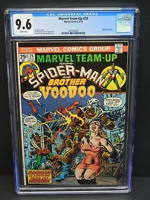 Marvel Comics Marvel Team-Up #24 1974 Cgc 9.6 White Pages Brother Voodoo