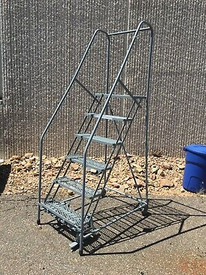 Cotterman rolling six step ladder, gray looking for a new home