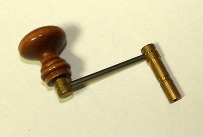 Tall Case Clock Key, Brass with Wooden Handle, Size 14, Grandfather Clock