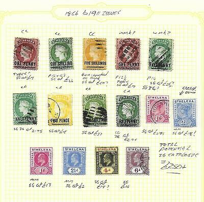 St Helena Stamp Collection QV - Edward VII inc Classics. SG Cat: £250