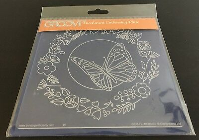 Claritystamp Groovi Embossing Plate Butterfly Wreath