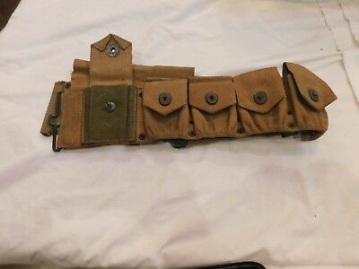 WWI WWII US Army Cartridge Belt Modified US Calvary To Infantry Strong 1918