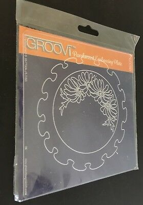 Claritystamp Groovi Embossing Plate Frilly Circle