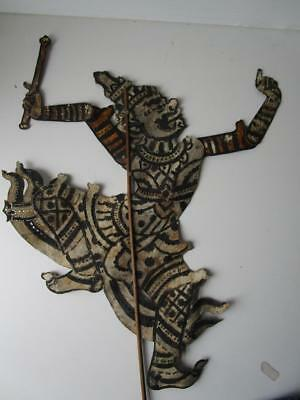 Vintage Fine Leather Chinese Large Shadow Stick Rod Puppet # 7