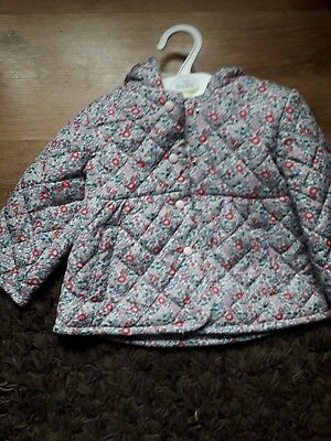 3 to 6 months girls floral coat new with tags