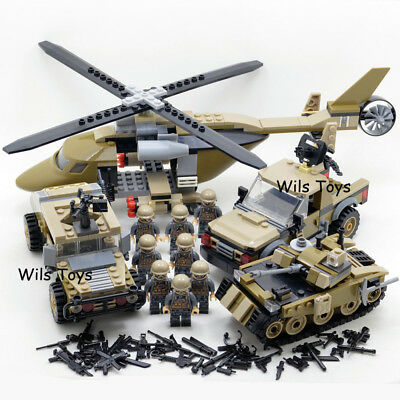 Classic Military lego Soldiers Building Block SWAT Police Special Force Army New