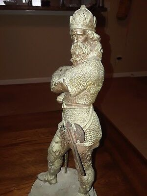 Interesting  Antique Spelter King Statue. Heavy and great Patina. Check out pics