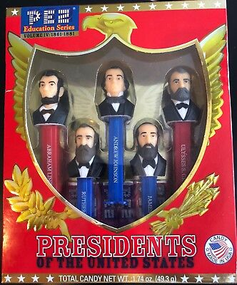 Presidents United States PEZ Candy Dispensers: Vol 4 1861-1881 Complete New