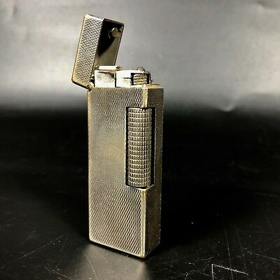 Vintage Dunhill Rollagas Lighter in Silver Tone