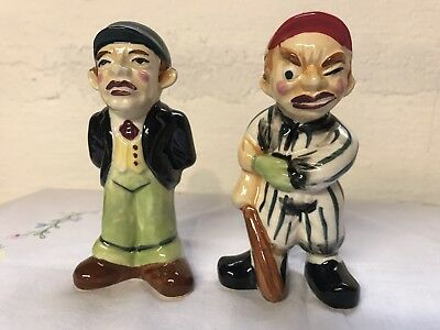 Vintage 1950's Baseball Player & Umpire Salt&Pepper Enesco Japan