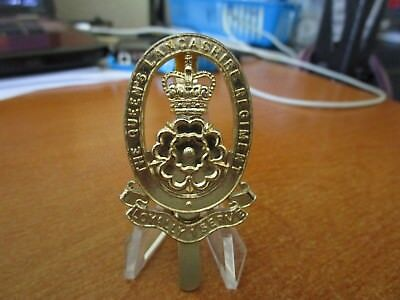 1970s British Army The Queens Lancashire Regiment KK2049 Cap Badge by J R Gaunt