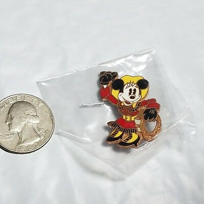 Vintage Cloisonne Disney Pin Cowgirl Minnie Mouse Walt Disney Production pin NEW