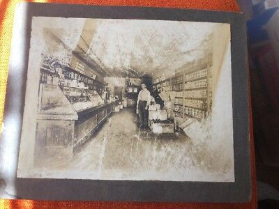 Antique Tonkawa Oklahoma Interior Grocery Store Photo